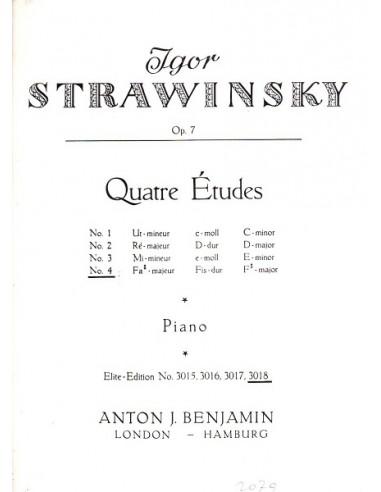 Strawinsky Studio Op.7 N° 4 in Fa...
