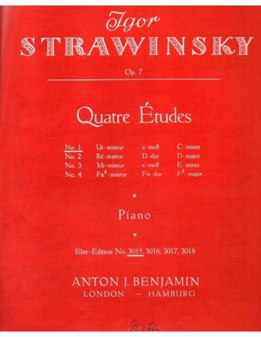 Strawinsky Studio Op.7 N° 1 in Do minore